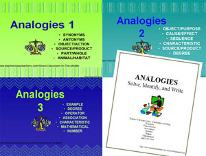 Analogies Package Cover