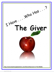 I Have Who Has - The Giver