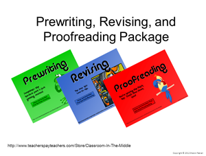 Prewriting- Revising- and Proofreading Package