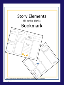 Story Elements Bookmark