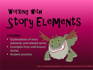 Story Elements PowerPoint, from Classroom in the Middle