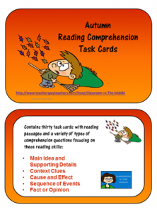 autumn-reading-comprehension-task-cards