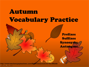 Autumn Vocab Practice