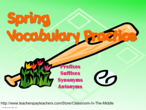 Spring Vocab Prac - cover
