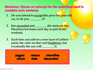 Spring vocab practice - slide 3