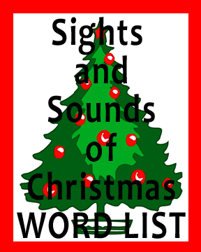 Sights and Sounds of Christmas Word List |
