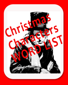 Word list of Christmas characters