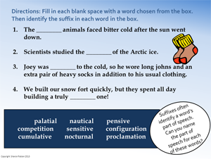 Winter Vocab Practice - slide 2
