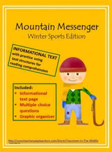 Mountain Messenger informational text activity
