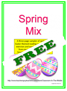 Spring Mix - Three free activity sheets