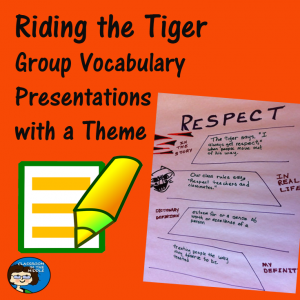 Riding the Tiger - Group Vocabulary Presentations with aTheme pin