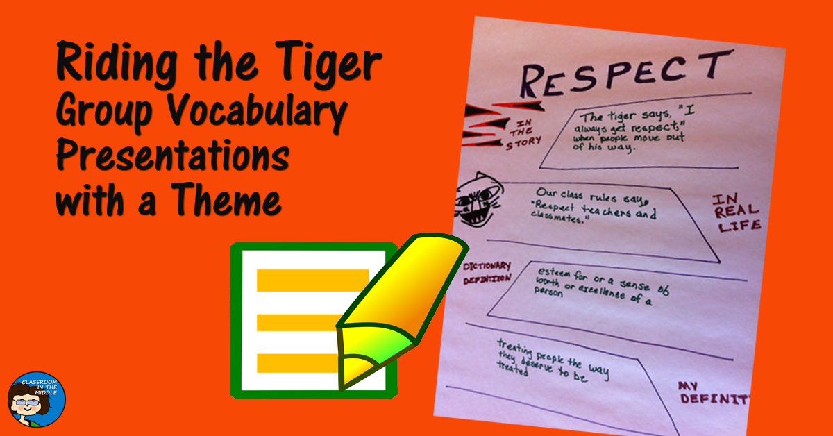 Riding the Tiger - Group Vocabulary Presentations with aTheme