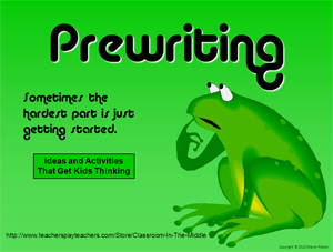 Prewriting ppt