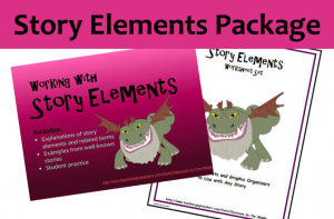 Story Elements Package, includes printables for any story and a PowerPoint presentation for introducing or reviewing all of the story elements, from Classroom in the Middle