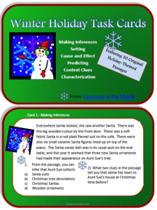 Winter Holidays Task Cards 1
