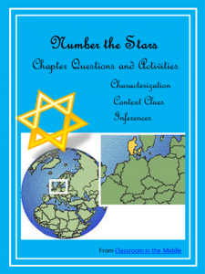 Number the Stars novel study, focusing on characterization, inferences, and using context clues