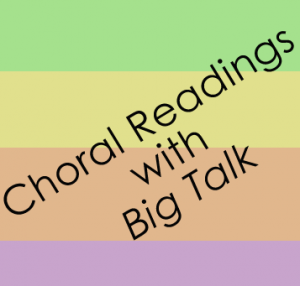 Choral Readings with Big Talk - suggestions for using Paul Fleischman's book of poems, Big Talk, for oral reading, or choral poetry readings