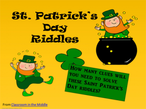 St Pat's Day Riddles
