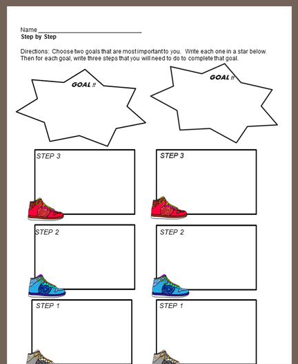 Best Foot Forward Graphic Organizer