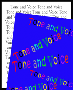 Teaching students about tone and voice in writing, with suggested activities and ladditional links