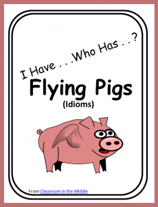 I Have Who Has Idioms