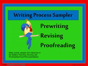 Writing Proces Sampler
