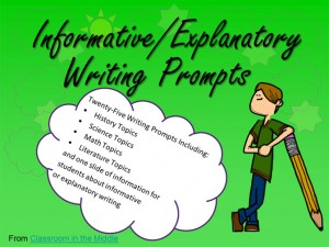 Informative/Explanatory Writing Prompts - 25 prompts with student directions, each on an individual slide. Also included is a page of helpful information for students about informative or explanatory writing.