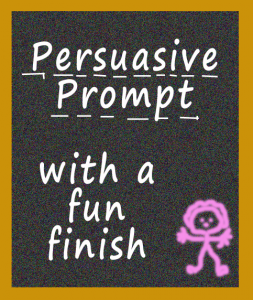 A persuasive writing prompt in a fun end-of-year activity