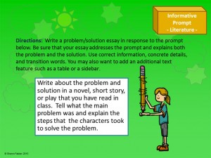 Informative/Explanatory Writing Prompts - sample slide