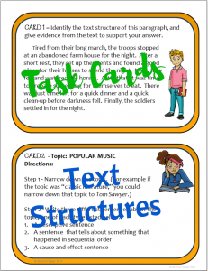 Text structure sample page