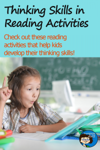 Thinking Skills in Reading Activities pin