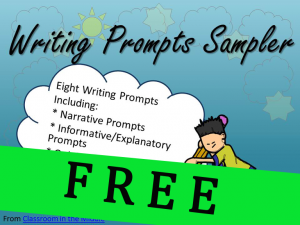 Writing Prompts Sampler FREE copy