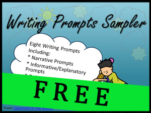 Writing Prompts Sampler FREE copy copy