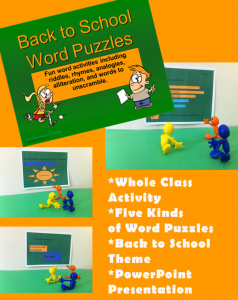 BTS Word Puzzles - using fun word puzzles as a beginning-of-the-year activity, from Classroom in the Middle