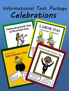Celebrations - Four informational text readings with activities
