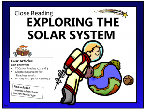 Close Reading - ExploringSolar System