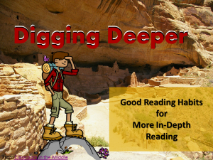 Digging Deeper - Introducing Close Reading
