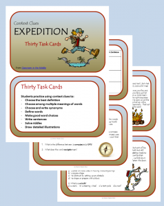 Expedition Task Cards, set of 30 cards, from Classroom in the Middle, on Teachers Pay Teachers