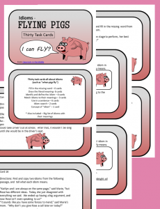 Flying Pigs (Idioms) Task Cards set of 30 cards, from Classroom in the Middle, on Teachers Pay Teachers