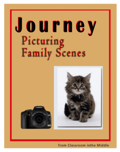 Journey,Picturing Family Scenes- blog post about the photography theme in the novel, with an activity sheet