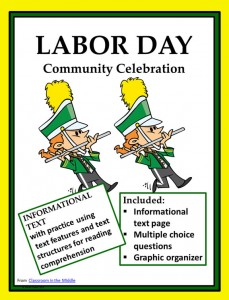 Labor Day informational text activity
