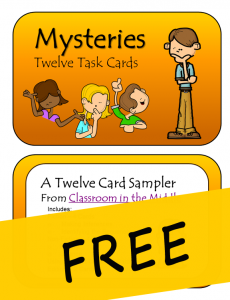Task Card Mysteries FREE, from Classroom in the Middle