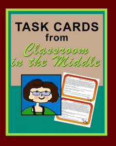 Task Cards from Classroom in the Middle
