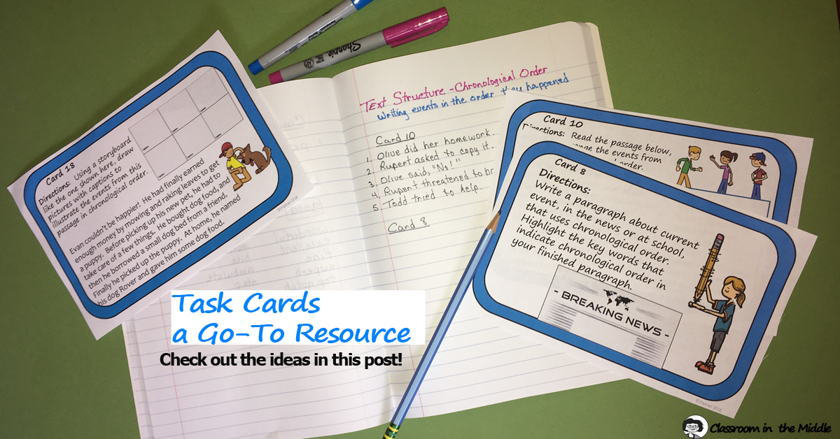 Task Cards - a Go-To Resource
