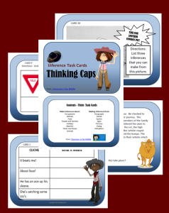 Thinking Caps (Making Inferences) Task Cards, set of 30 cards, from Classroom in the Middle, on Teachers Pay Teachers