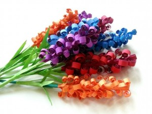 Spring flowers, directions for making these paper flowers