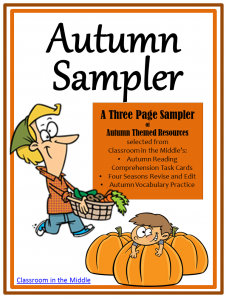 Autumn Sampler - free autumn themes resources