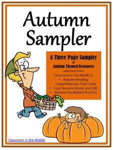Autumn Sampler - free autumn themes resources