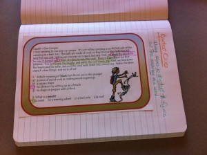 Using Task Cards in Interactive Notebooks, from Classroom in the Middle