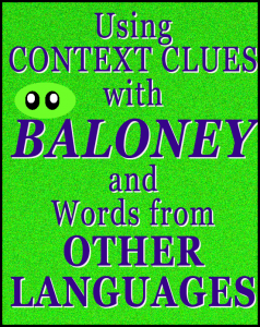 using context clues with the picture book Baloney